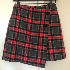 H&M Plaid Mini Skirt Size 4